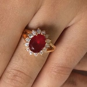 Jewelry - Royal Red Ruby & Diamond Ring